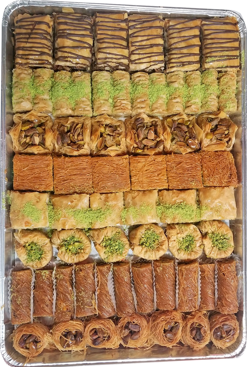 SILVER ASSORTED BAKLAVA TRAY