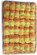 Load image into Gallery viewer, SHREDDED FILO WRAP BAKLAVA PISTACHIO FULL TRAY