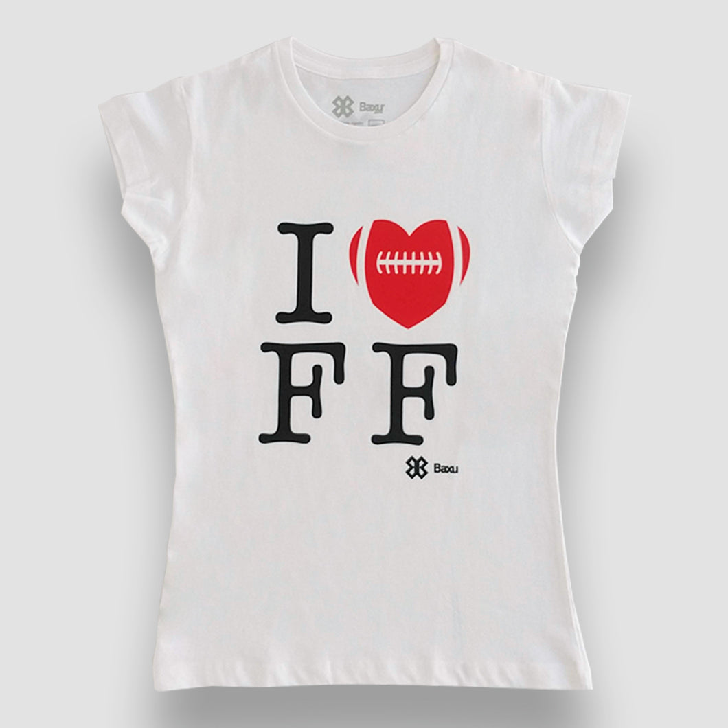 Blusa Dama Tochito - I Love Flag Football - Blanco