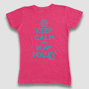 Blusa Voleibol Dama - Keep Calm and Play Volley - Rosa