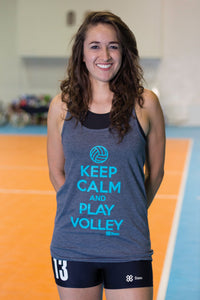 Blusa Tank Voleibol - Keep Calm and Play Volley - Gris