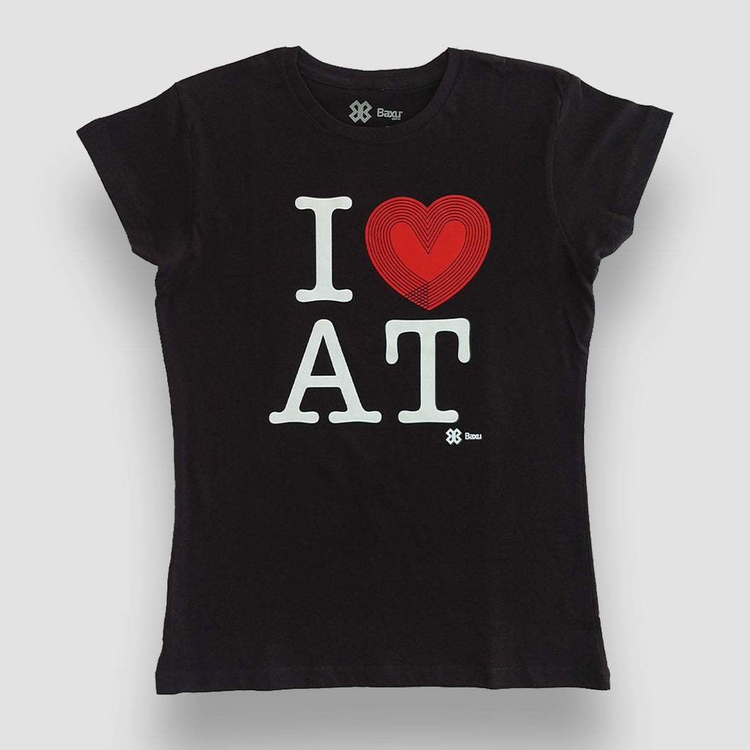 Blusa Dama Atletismo - I Love Athletics - Negro