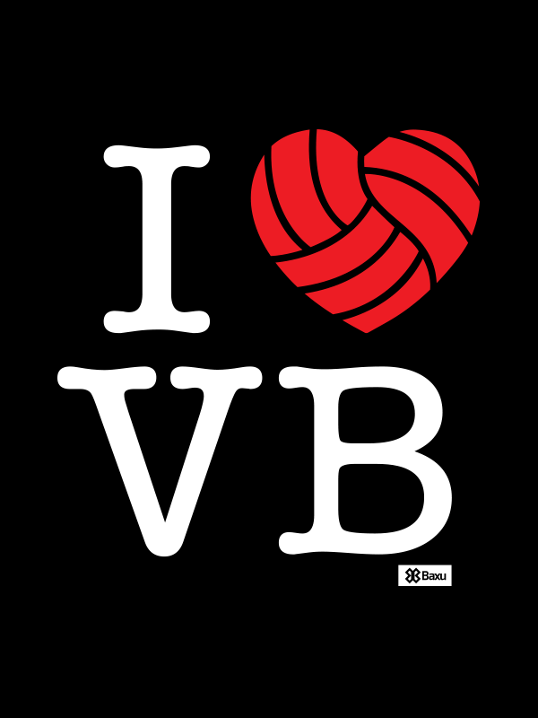 Calcomanía de pared I love Volleyball