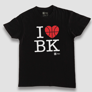 Playera Unisex Basquetbol - I love Basketball - Negro
