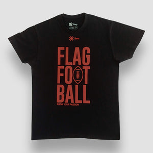 Playera Unisex Tochito - Show Flag Football - Negro