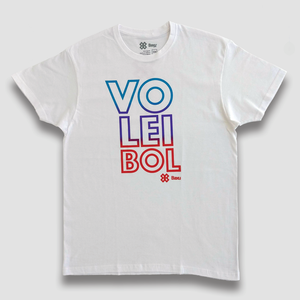 Playera Voleibol Unisex - Colors - Blanco