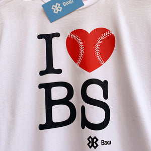 Playera Unisex Béisbol - I Love Baseball - Blanco