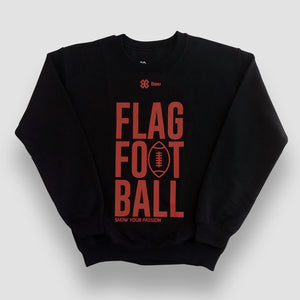 Sudadera Unisex Tochito - Show Flag Football - Negro