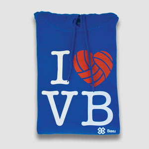 Sudadera Voleibol - I LOVE VOLLEYBALL - Azul