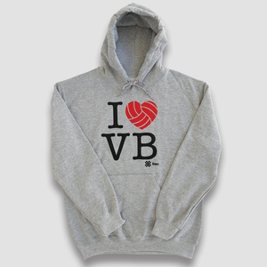 Sudadera Voleibol - I LOVE VOLLEYBALL  - Gris