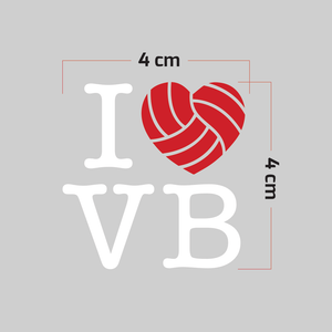 Sticker Voleibol - I love Volleyball - Pequeña