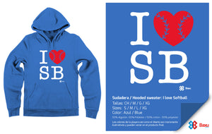 Sudadera I love Softball / Azul