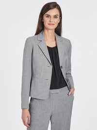 Melange Two-Button Blazer – Grey/Black – Kasper