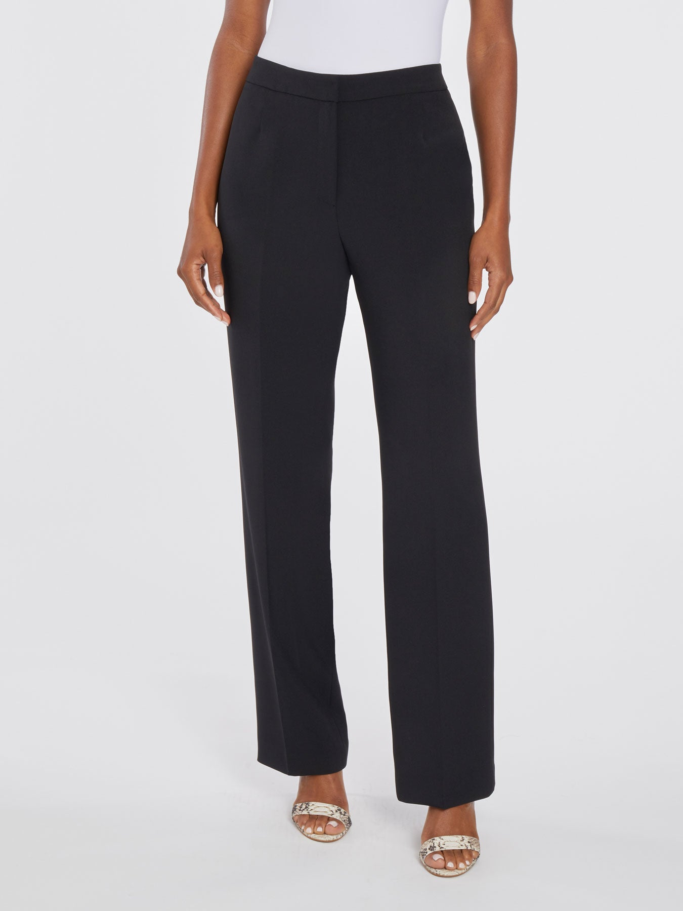 Straight-Leg Trousers – Black – Kasper