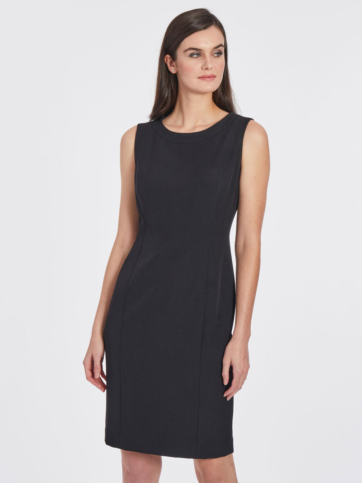 Tailored Sheath Dress – Black – Kasper