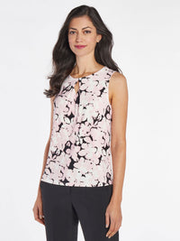 Watercolor Floral Jersey Top – Tutu Pink Multi – Kasper
