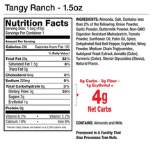 Load image into Gallery viewer, Tangy Ranch Seasoned Almonds - 1.5oz Package