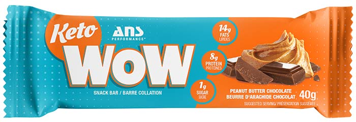 Peanut Butter Chocolate Keto Wow Bar