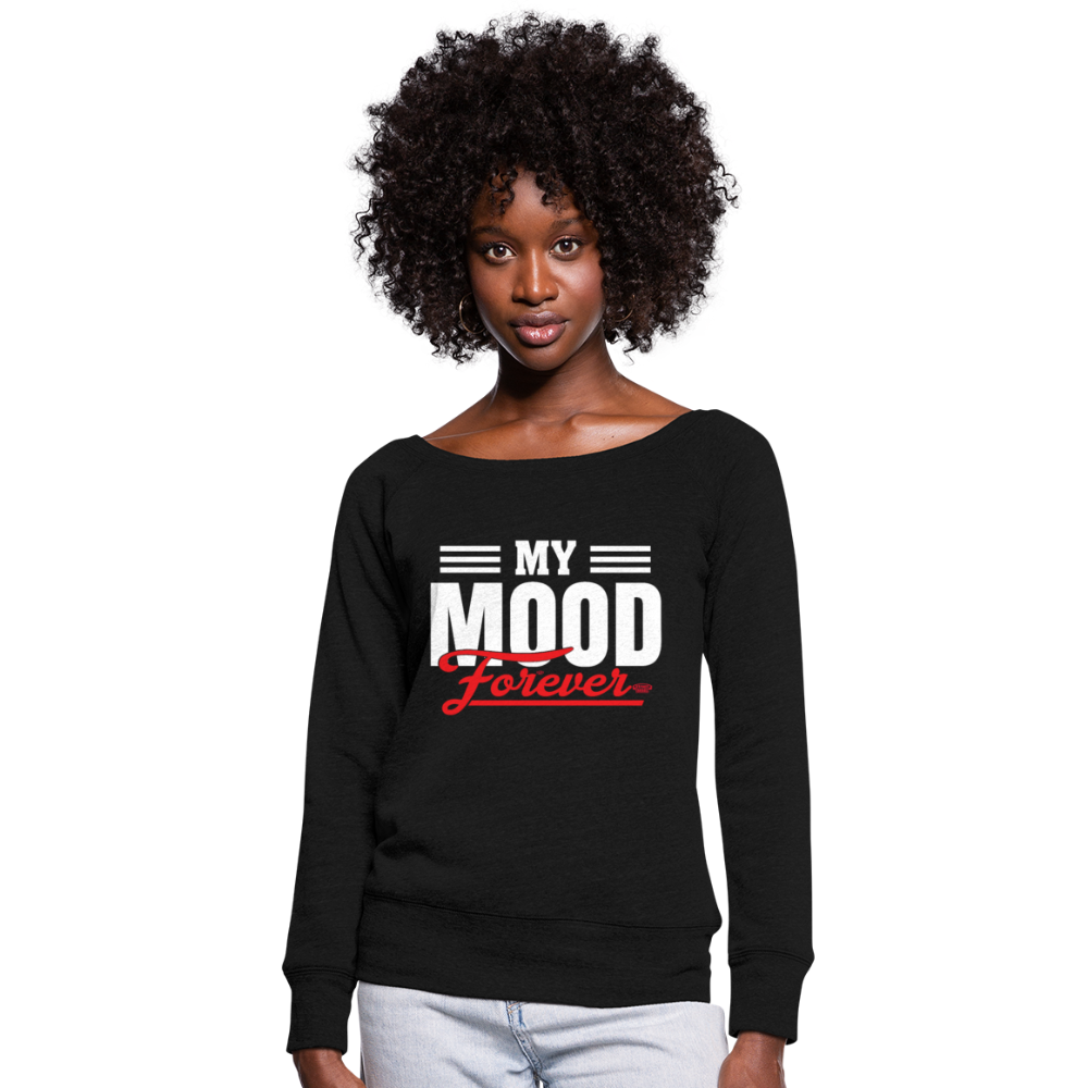 My Mood Forever Wideneck Sweatshirt - black