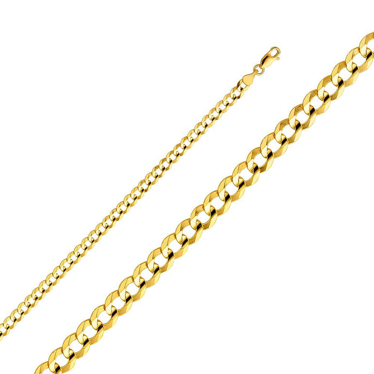 14KY 120(4.7MM) CURB CONCAVE  CH-0108 CHAIN NECKLACE