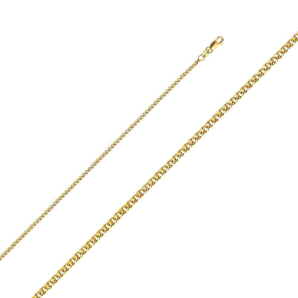 14KY 030(1.7MM) FLAT WHEAT CHN  CH-0187 CHAIN NECKLACE