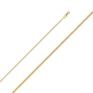 14KY 025(1.0MM) SQ DC WHEAT CHN  CH-0192 CHAIN NECKLACE