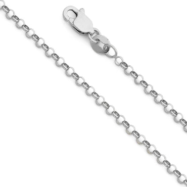 14KW 2.1MM ROUND ROLO CHAIN  CH-0228 CHAIN NECKLACE