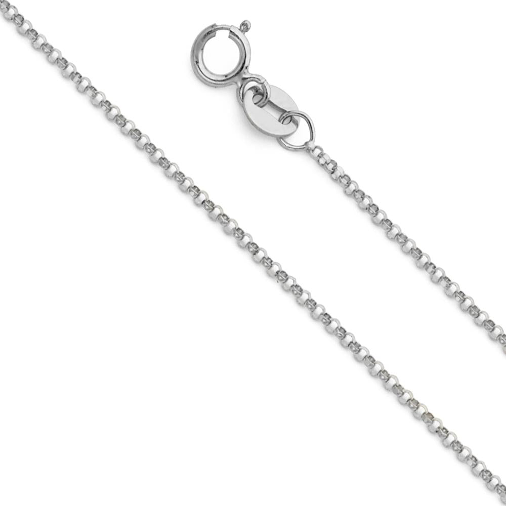 14KW 1.2MM ROUND ROLO CHAIN  CH-0230 CHAIN NECKLACE