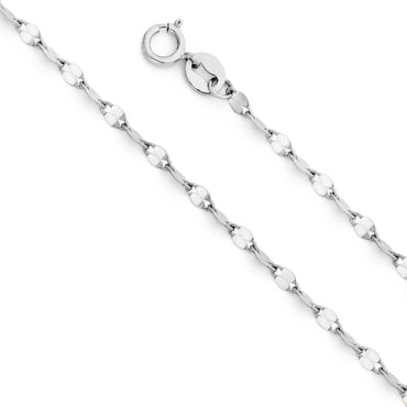 14KW 2.0MM TWIST MIRROR CHAIN  CH-0245 CHAIN NECKLACE