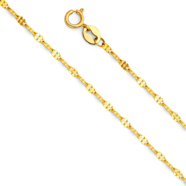 14KY 1.7MM TWIST DC MIRROR CHN  CH-0247 CHAIN NECKLACE