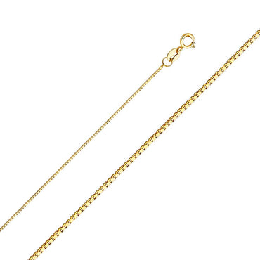 14KY 0.6MM BOX CHAIN  CH-0257 CHAIN NECKLACE