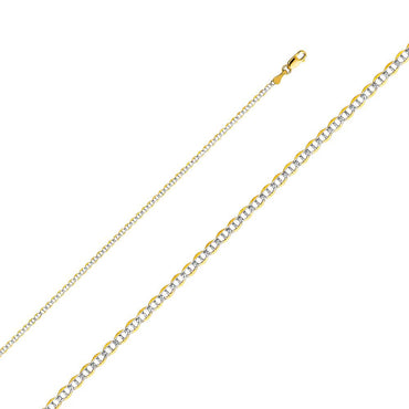 14K 050(2.0MM) FLAT MARINER WP C  CH-0269 CHAIN NECKLACE