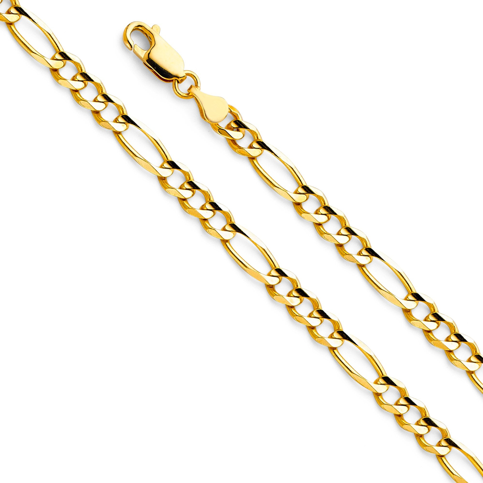 14KY Figaro 3+1 120 CH-0291 CHAIN NECKLACE