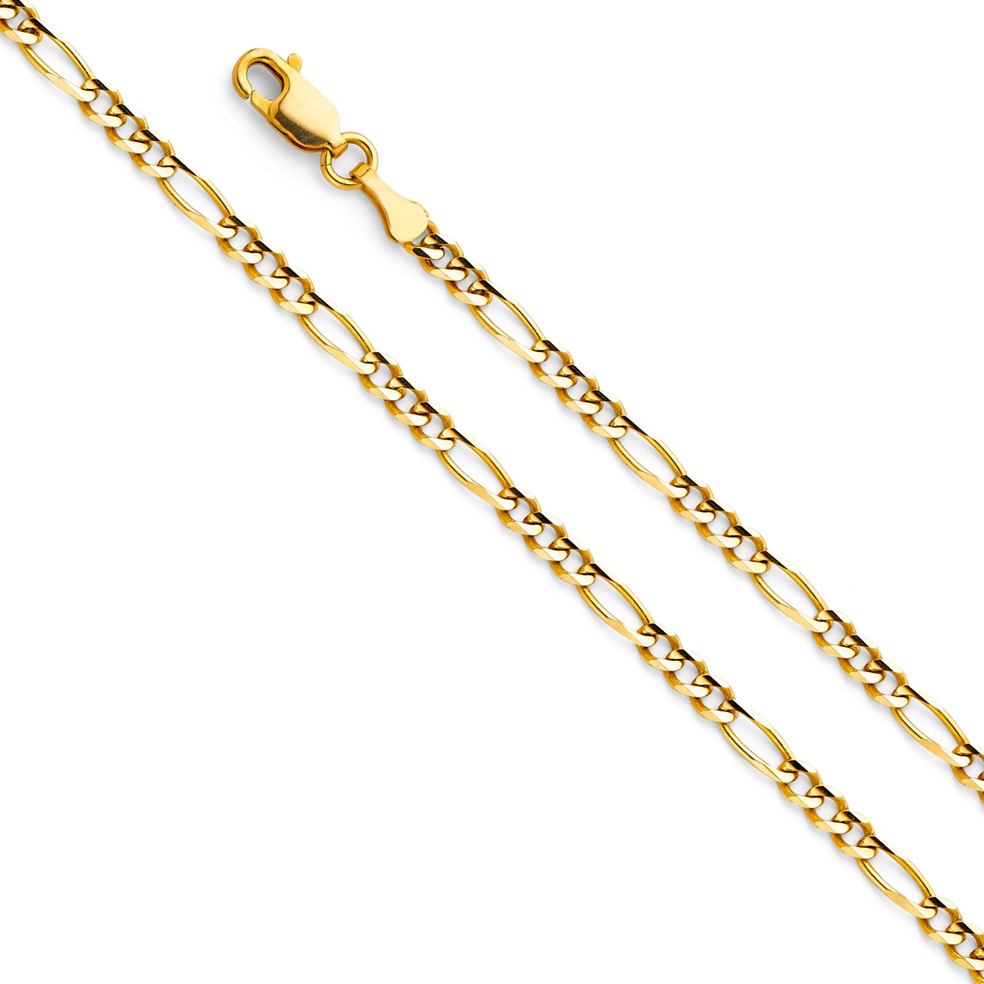 14KY Figaro 3+1 080 CH-0293 CHAIN NECKLACE