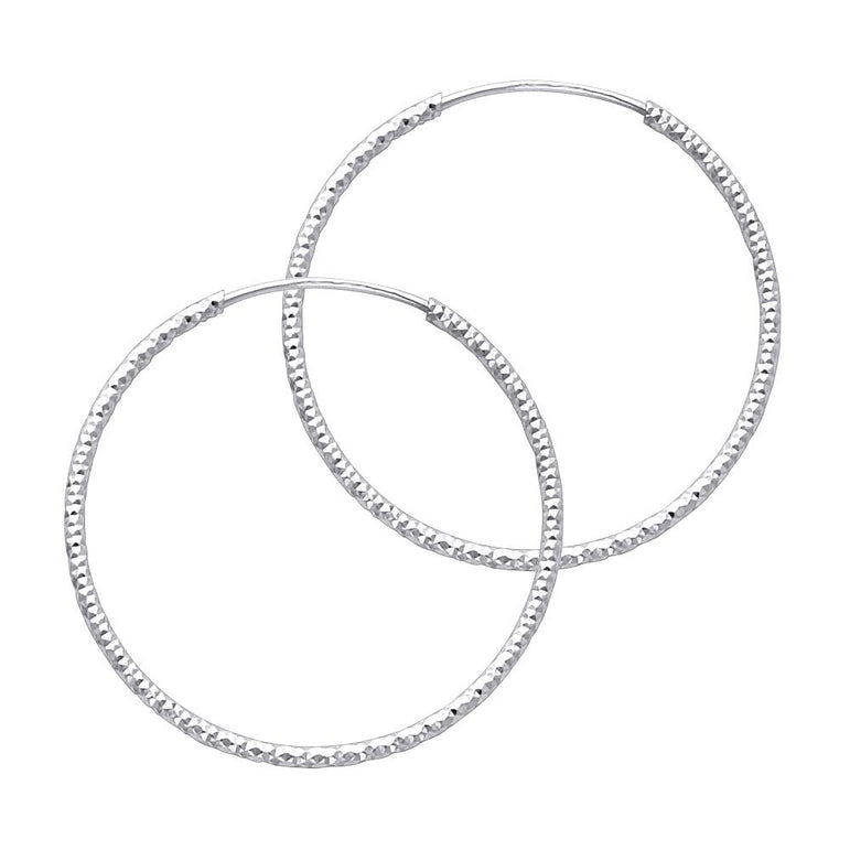 14KW 1MM BB DC ENDLESS HOOP (27MM) EARRINGS