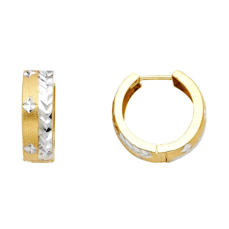 14K D/C HUGGIES EARRINGS