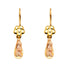 14K 2T HOL G-LUPE T-DROP HANG EAR EARRINGS