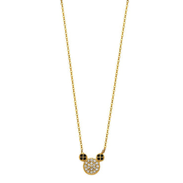 14K MOUSE NECKLACE (NK109) NK-0109 Womens Necklace