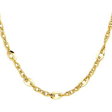 14KY HOLLOW NECKLACE NK-0143 Womens Necklace