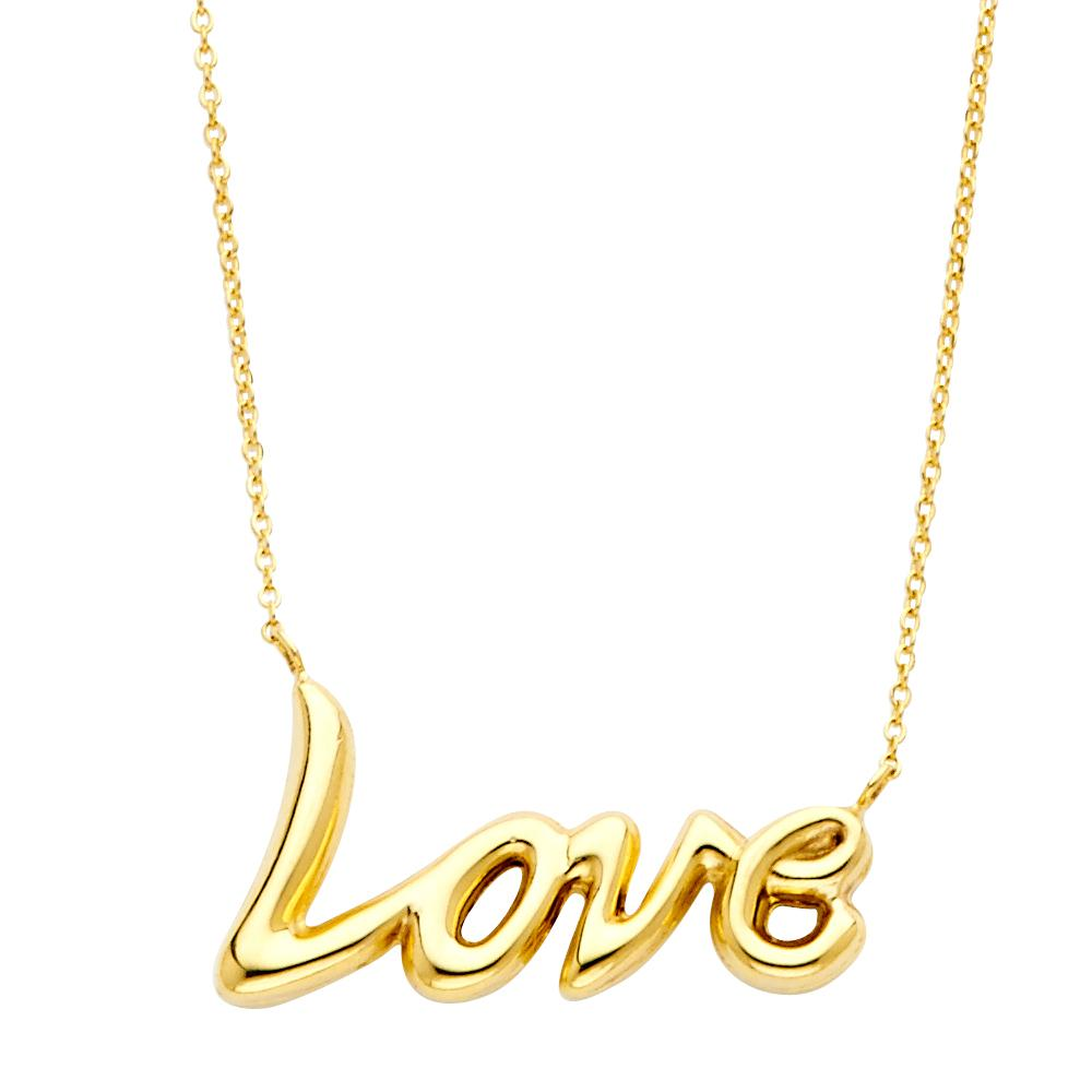 14KY LOVE NECKLACE NK-0146 Womens Necklace