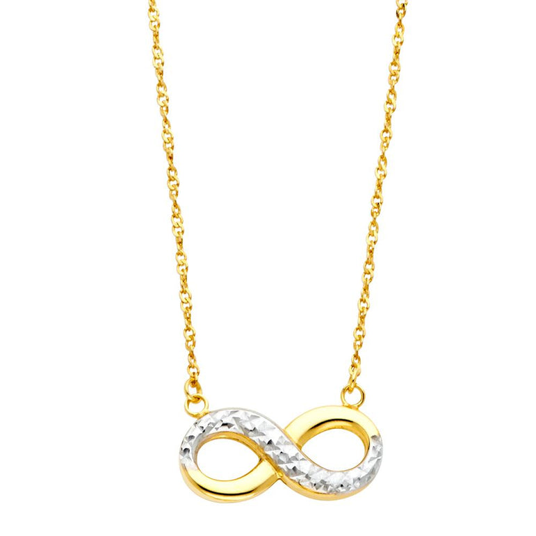 14K 2T INFINITY NECKLACE NK-0147 Womens Necklace