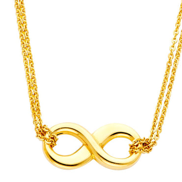 14KY INFINITY NECKLACE NK-0148 Womens Necklace