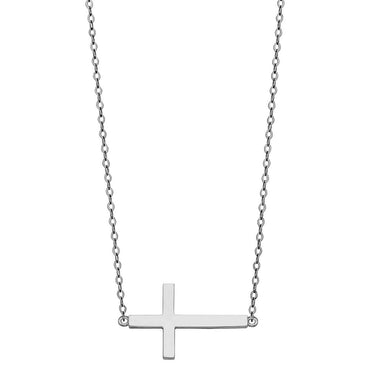 14KW SIDE WAY CROSS NECKLACE NK-0207 Womens Necklace
