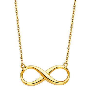 14KY INFINITY NECKLACE NK-0211 Womens Necklace