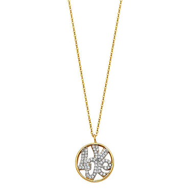 14KY CZ LOVE SIGN NECKLACE NK-0217 Womens Necklace