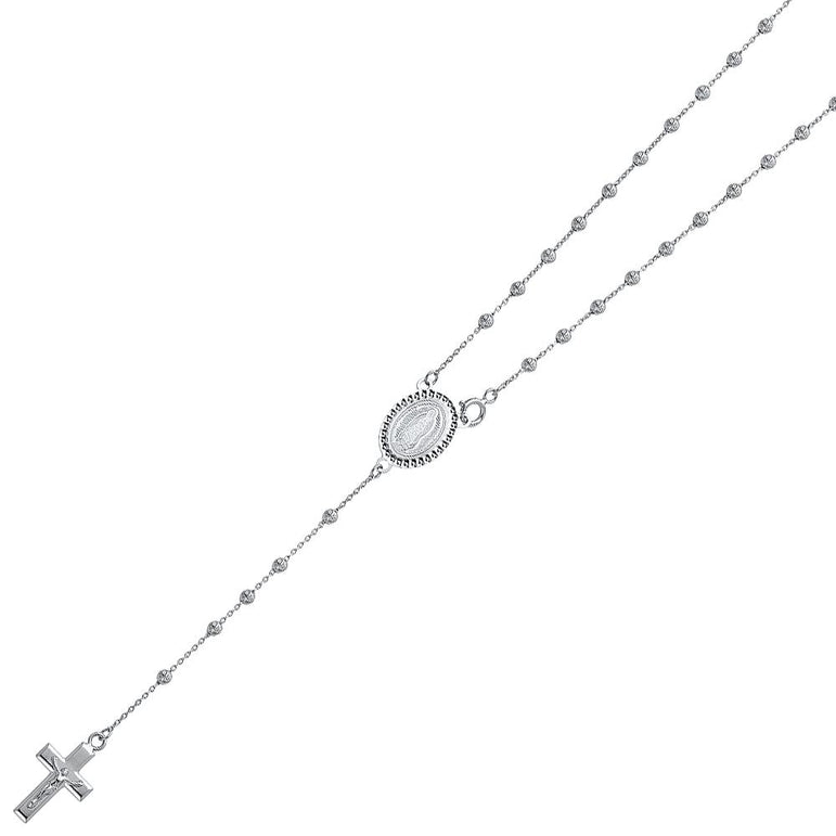 14KW 2.5MM MOON BALL ROSA-NECK NK-0240 Womens Necklace