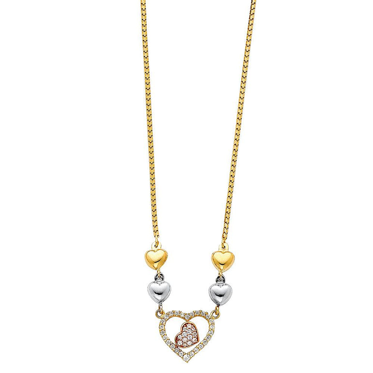 14KT LIGHT HANGING NECKLACE (NK78) NK-0078 Womens Necklace