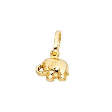 14KY HOLLOW ELEPHANT PENDANT (PT493) PT-0493