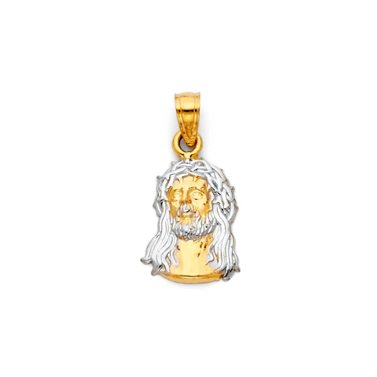 14K 2T JESUS CHRIST HEAD BIG PENDANCROSS PENDANT PT-0093