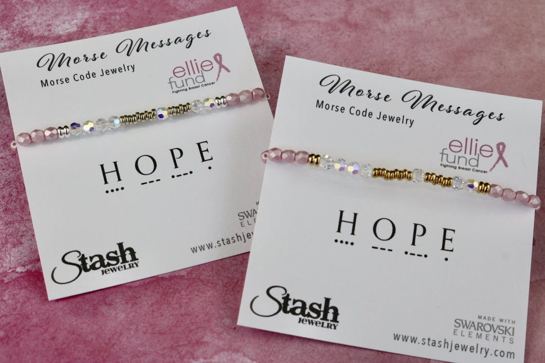 Morse Messages Charity Bracelet - Hope - Ellie Fund